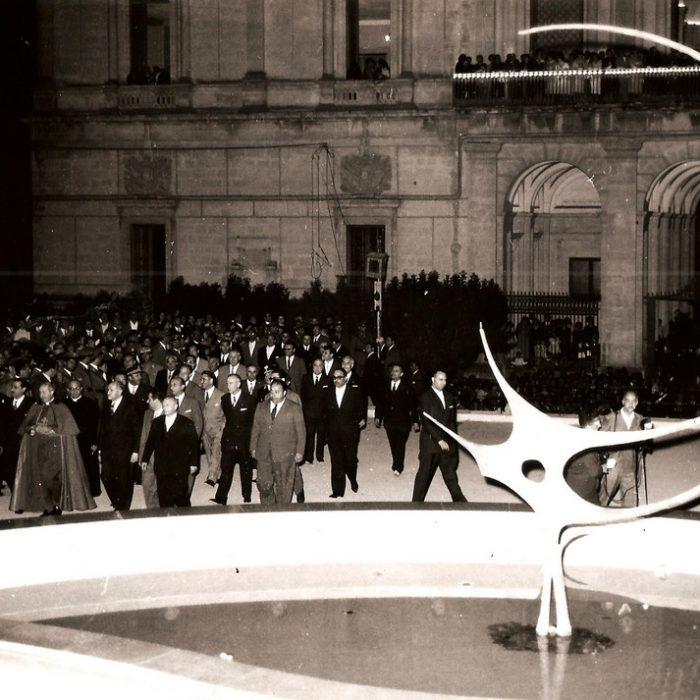Inaugurazione fontana a Ragusa
